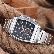 Longbo 2017 fashion square reloj de cuarzo hombres relojes de primeras marcas de lujo reloj hombre reloj de pulsera para hombres relogio masculino hodinky
