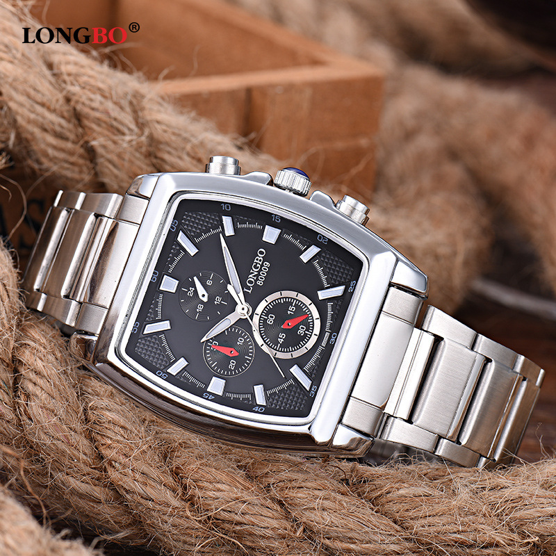LONGBO 2018 Fashion Square Quartz Watch Men Watches Top Brand Luxury Wrist Watch Male Clock For Men Hodinky Relogio Masculino longbo luxury brand fashion quartz watch blue leather strap women wrist watches famous female hodinky clock reloj mujer gift