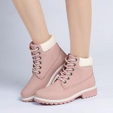 {D & H}รองเท้าแบรนด์ผู้หญิง5สีสูงด้านบนรองเท้าลำลอง2016ใหม่สีสีชมพูไม่สลิปแฟลตLuceขึ้นมาร์ตินบู๊ทส์ฮาโลวีนs apatos