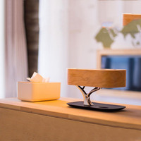 Stylish high end bedside lamp with high quality Bluetooth speaker and wireless charger sleep mode stepless dimming #10
