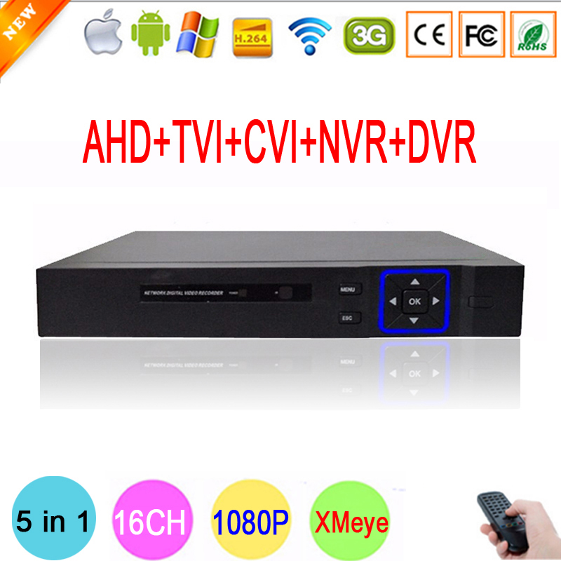 Hisiclion Chip Blue Ray Metal Case DVR 16 Channel 16CH 1080P 1080N 960P 720P 960H Hybrid