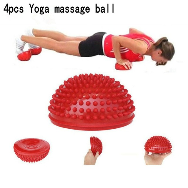 4pcs/set Yoga Half Ball Fitness Physical Exercise Balance Ball Point Massage Stepping Stones Balance Pods YoGa balls l5672