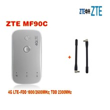 Unlocked zte MF90c MiFi 4g lte wifi Router Support LTE FDD 1800/2600MHz TDD 2300MHz MIFI 4G wifi hotspot plus 2pcs antenna