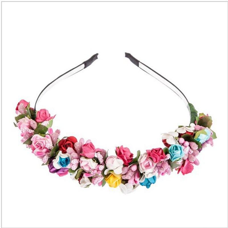 1pcs Flower Garland Floral Bride Headband For Wedding Party Prom Festival Decoration Hair Head Bands Headwear Accessories