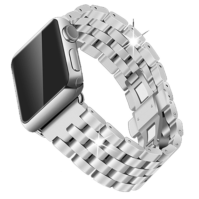 Stainless Steel Watchbands For Apple Watch Band Strap Link Silver Rose Gold Black Metal Bracelet 42mm 38mm IWatch Accessories watchbands for garmin fenix3 smart watch black silver gold bracelet stainless steel metal watch band strap 26mm