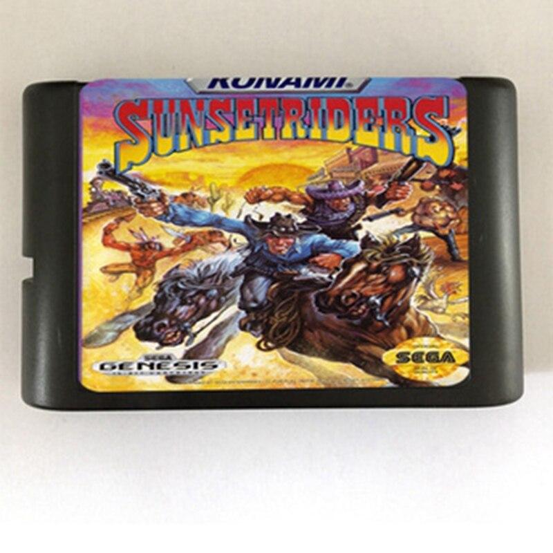 Sunsetriders Game Cartridge Newest 16 bit Game Card For Sega Mega Drive / Genesis System