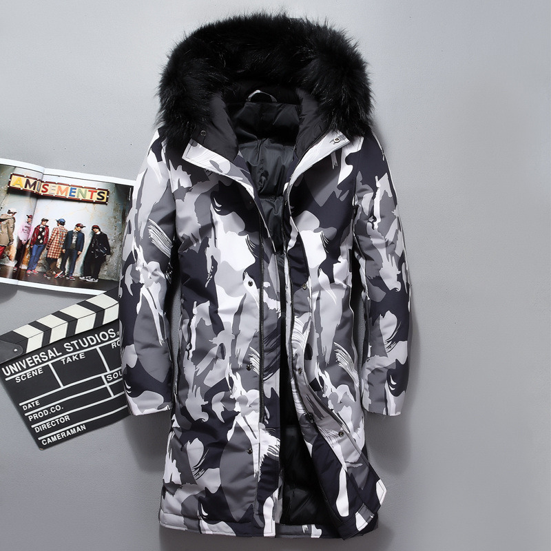 Mens Overcoat,Men Camouflage Thickening Coat Pullover Outwear Windbreaker,Mens Faux Fur Coat