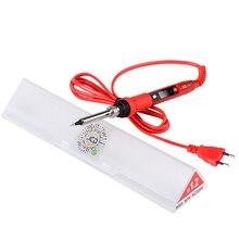 JCD 220 в 80 Вт Электрический паяльник ЖК-дисплей с регулируемой температурой, паяльная сварка, паяльные утюги с керамическим тепловым насосом
