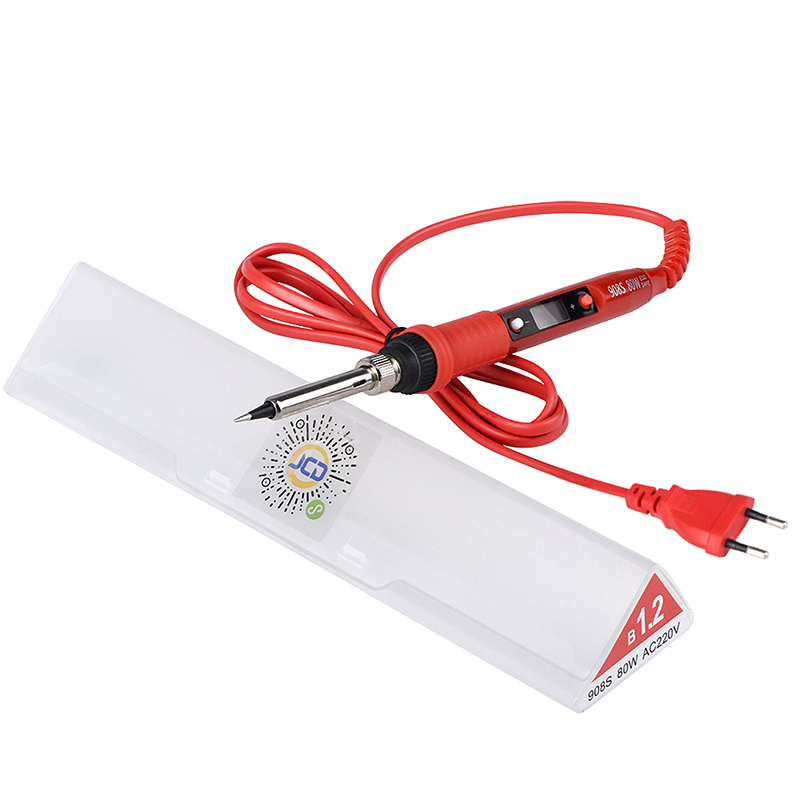 JCD 220V 80W Electric Soldering iron LCD Adjustable Temperature Solder Welding rework solder irons Ceramic Heat pump stand tips