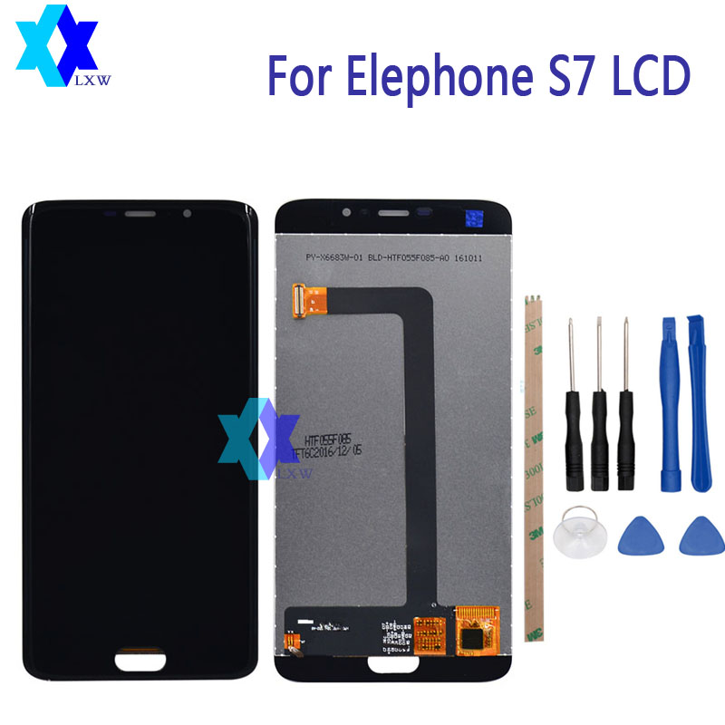 For Elephone S7 LCD Display +Touch Screen Panel Digital Replacement Parts Assemb