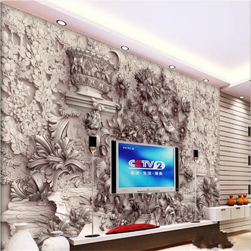 beibehang Large Custom Wallpaper Mural 3D Stereo Relief Colorful Gypsum Wallpaper Wall wall papers home decor beibehang modern luxury circle design wallpaper 3d stereoscopic mural wallpapers non woven home decor wallpapers flocking wa
