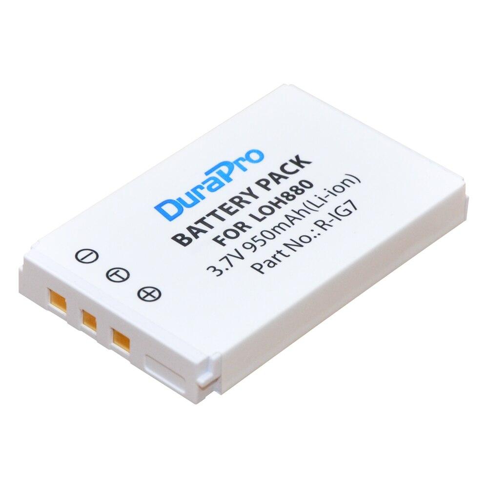 1pc DuraPro 3.7V 950mAh R-IG7 Li-ion Battery for Logitech Harmony LOH880 One 900 720 850 880 885 890 Pro H880 Universal Camera
