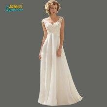 Elegante frauen Chiffon A-linie Abendkleider Spitze Stickerei & Appliques Liebsten Kleid Backless Formale Abend Party Kleid