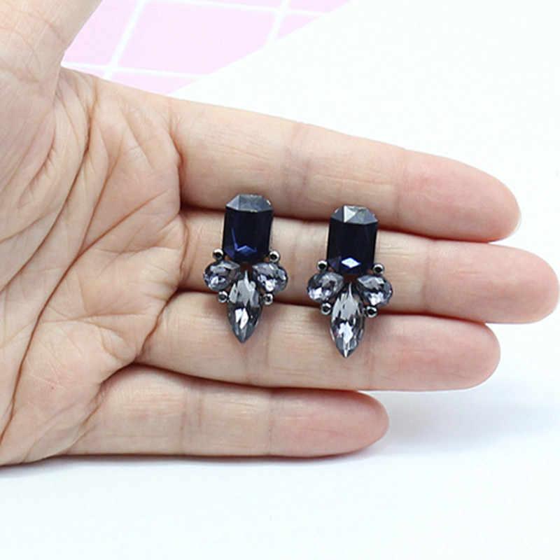 Haute qualité rétro exquise femmes rouge boucle d'oreille acrylique cristal gemme cubique Zircon boucles d'oreilles pour les femmes brincos bijoux e0225