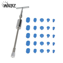 WHDZ PDR Tools Slide hammer Dent Removal Paintless Dent Repair Tool Paintless Kits with 25pcs Blue Puller Tabs whdz pdr tools slide hammer with puller tabs dent removal repair tool paintless kits glue puller sets