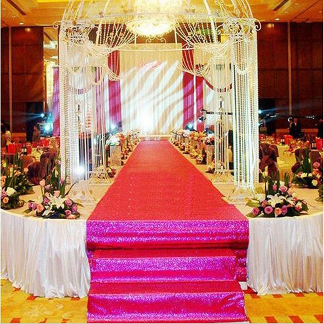 express 1mx10meter wedding party stage glitter carpets decoration mariage shiny nonwoven rug aisle runner gold purple - Aliexpress Decoration Mariage