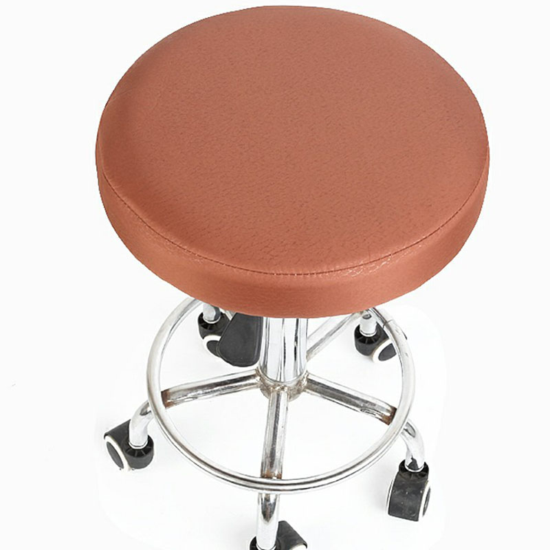 Simple Chair Cover Bar Round Stool Poyester Seat Cover Chair Dentist Hair Salon Chair Covers Slipcover funda silla Drop Shipping