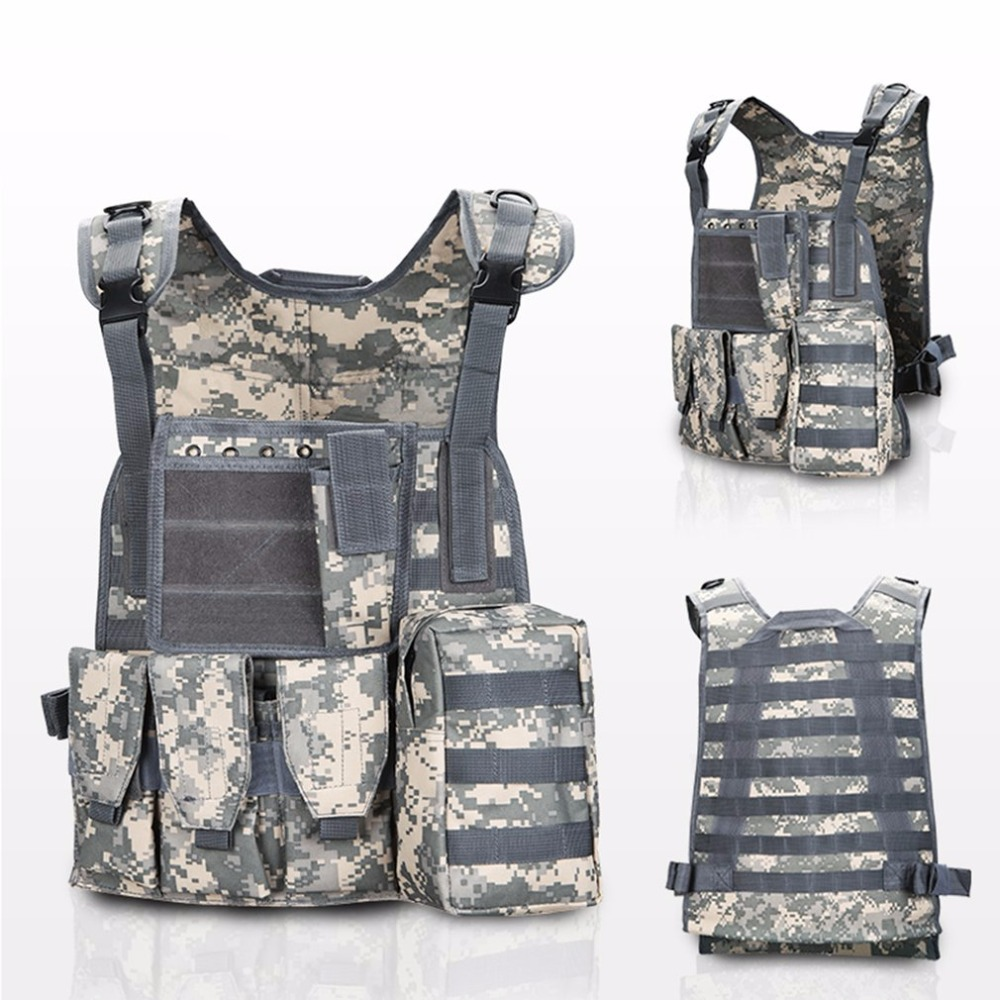 Tactical vest  USMC Airsoft Tactical Military Molle Combat Assault Plate Carrier Vest4 Colors CS outdoor clothing Hunting vest
