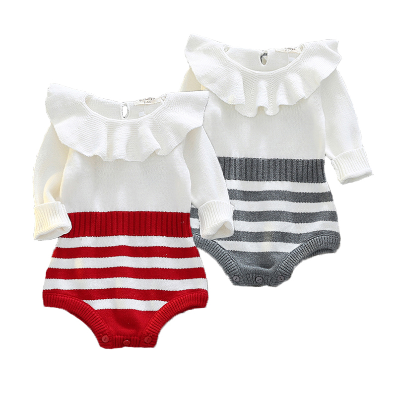 Wool Baby Rompers Spring Baby Girl Clothes Cute Newborn Clothes Roupas Bebe Infant Baby Jumpsuits Kids Costume Girls Sweater baby rompers halloween baby girl clothes spring newborn baby clothes cotton baby boy clothing roupas bebe infant jumpsuits