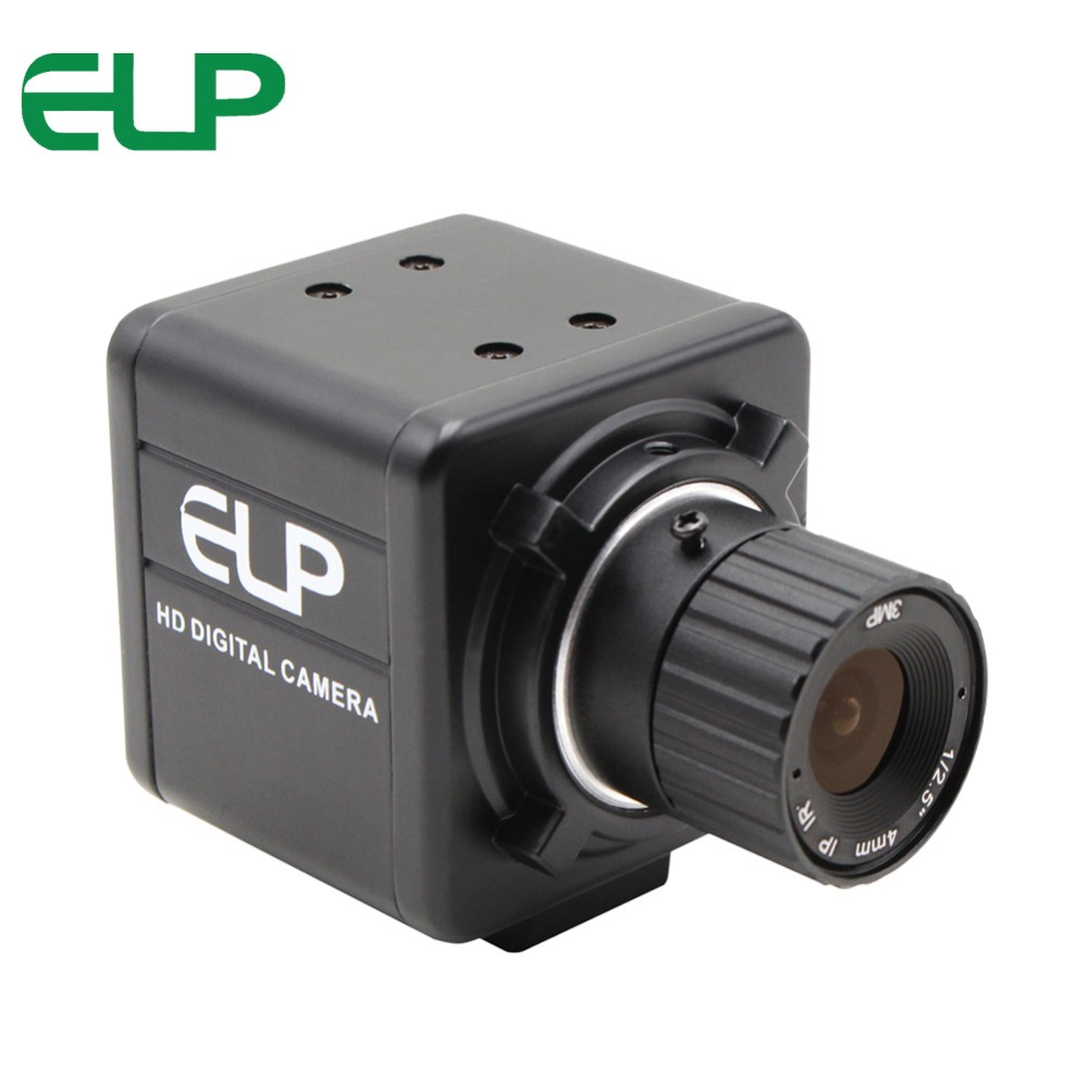 2 megapixel industrial Mini box CMOS OV2710 4mm manual focus CS mount lens 30fps/60fps/120fps small 1080P Full HD USB Camera