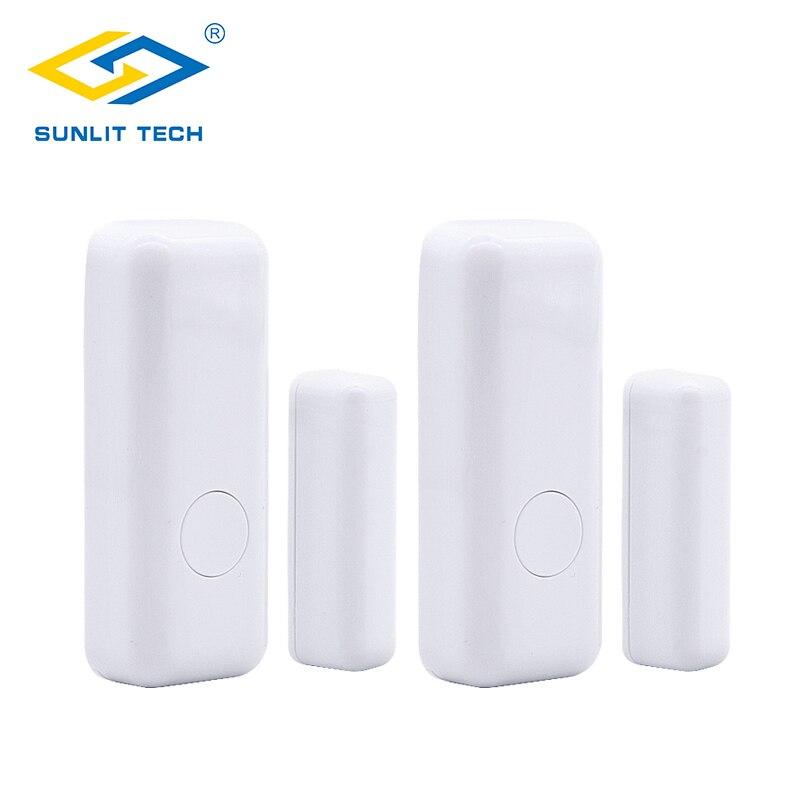 2pcs/Lot Wireless Window Door Magnet Sensor For 433MHz Home Burglar Security System WIFI Door Sensor Alarma Puerta Detector