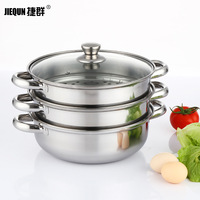 28CM Steamer Pot Luxury Cooking Pot Stock Pot Stew Pot with Steamer Draw Stainless Steel
