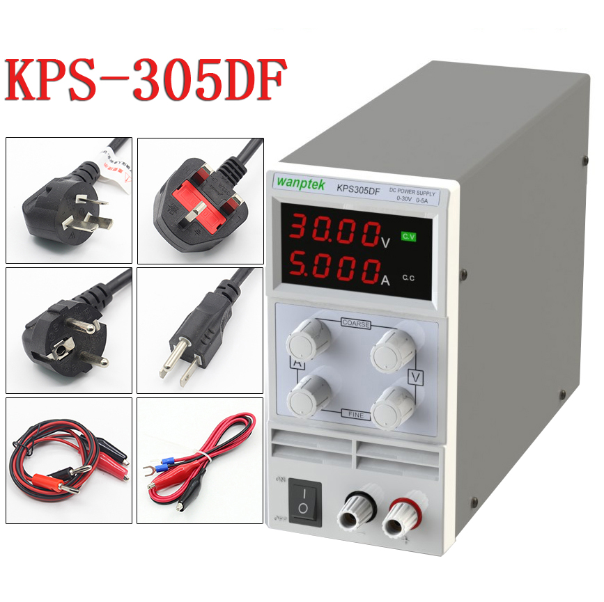 wanptek KPS305DF LED Digital Adjustable Switch DC Power Supply mA display 0.01V-30V 0.001A-5A 110V-230V я immersive digital art 2018 02 10t19 30