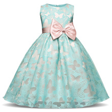 Fancy Butterfly Kids Girl Wedding Flower Girls Dress Princess Party Pageant Formal Dress Prom Little Baby