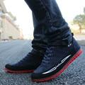 2017 primavera outono sapatos novos homens jovens moda Coreano sapatos de lona homem sapatos casuais sapatos da moda azul marinho preto marrom 39-44