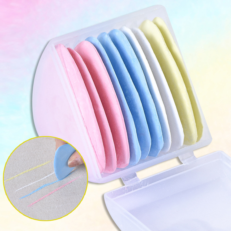 Image 4 - Colorful Erasable Fabric Tailors Chalk Fabric Patchwork Marker Clothing Pattern DIY Sewing Tool Needlework Accessories-in Sewing Tools & Accessory from Home & Garden