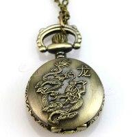 Античный Китайский Зодиак кварцевые карманные часы ожерелье специальные подарки для друзей