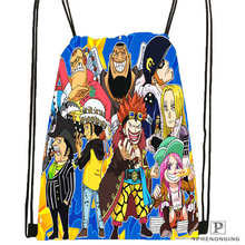 Custom Sabo-Luffy-Brother-One-PieceDrawstring Backpack Bag Cute Daypack Kids Satchel (Black Back) 31x40cm#180611-03-103