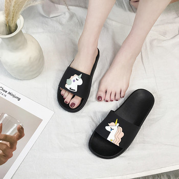 Unicorn Slide Sandals Women Slides Summer Cartoon Slippers Women Shoes Ladies Flip Flops Slide Sandals Beach Zapatillas Mujer 2