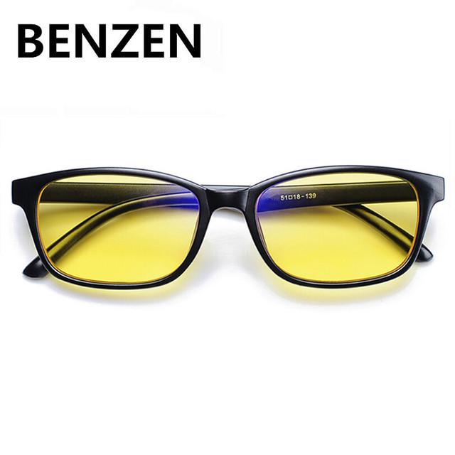BENZEN Anti Raios Azuis Óculos de Computador Óculos de Leitura de Radiação-resistente Óculos Óculos Preto Com Caso de Jogos de Computador 5019
