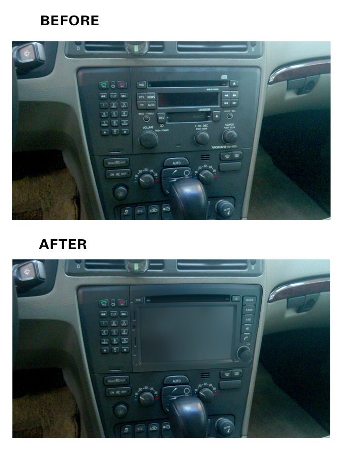2018 4G LTE WIF 8 inch 1024*600 Quad core Android 8.1 car multimedia DVD player Radio GPS FOR Volvo S60 V70 <font><b>2001</b></font> 2002 2003 2004 image