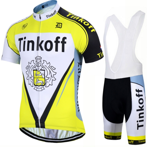 ROPA ciclismo cloting pro team 2017 new tinkoff short sleeve and bib shorts Jersey bicycle sportswear MTB cycling clothing cool