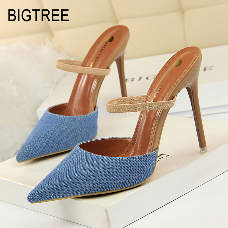 Bigtree Shoes Women Pumps New Women Shoes Stiletto Fashion High Heels Women Ssandals Kitten Heels Sexy Party Shoes Women Heels