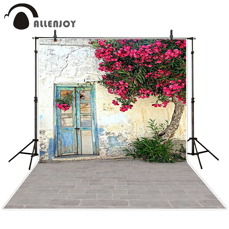 Allenjoy photographic background Door old concrete wall street backdrops baby christmas digital Excluding bracket 150x200cm