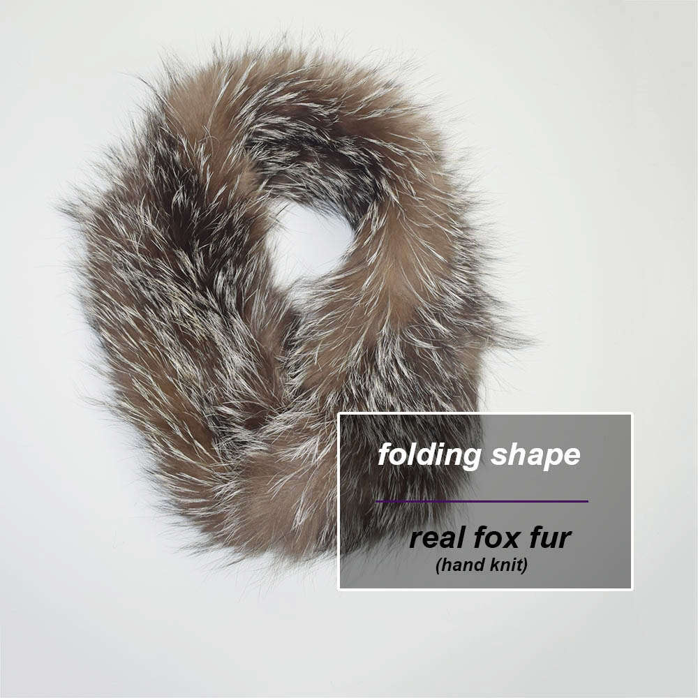 knit fox neck ring red fox details 2