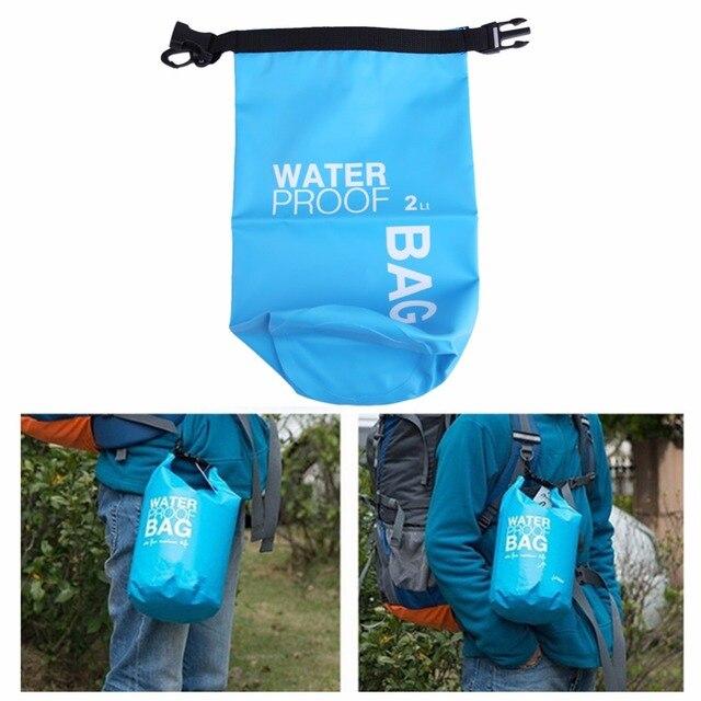 2l Waterproof Dry Bag Swimming Outdoor Sports Camera Phone Holder River Trekking Kayaking Water
