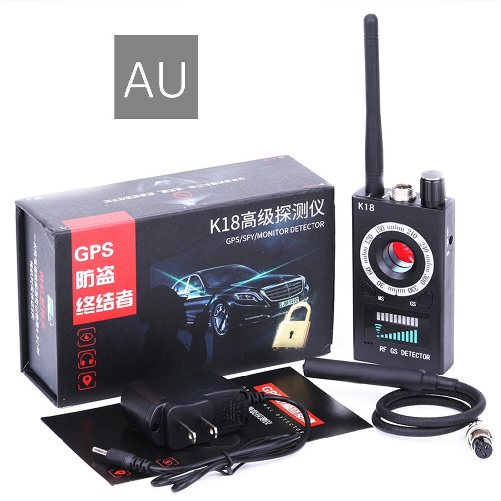 Anti spy Detector Camera GSM Audio Bug Finder GPS Signal Lens RF Tracker Detect Wireless Products 1MHz 6.5GHz K18 Multi function