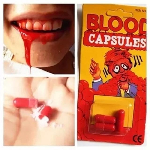 Spray Blood Pill Outdoor Fun Sports Entertainment Toy Gift Gags Practical Jokes Shocker Fake Blood Creative Gift For Halloween