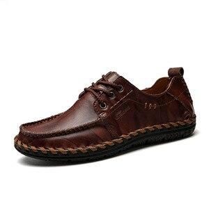 Image 2 - Mynde chaussures mocassins en cuir véritable de qualité pour homme, confortables, 2018, mode, chaussures décontractées, chaussures plates pour homme