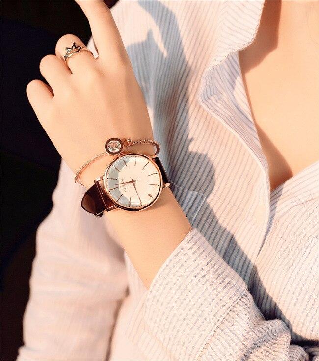 Polygonal dial design women watches luxury fashion dress quartz watch ulzzang popular brand white ladies leather wristwatch 9