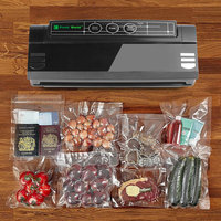 Household Vacuum Sealer for Food Preservation Packer Bag Sealer Includes Bag Kit Strong Vacuum Pump 75Kpa ABS Black