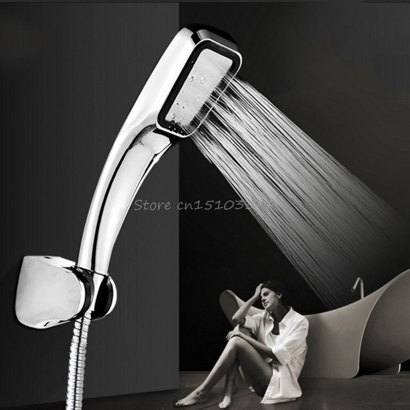 300 hole Pressurized Water Saving Shower Head ABS With Chrome Plated Bathroom Hand Shower Water Booster Drop Ship