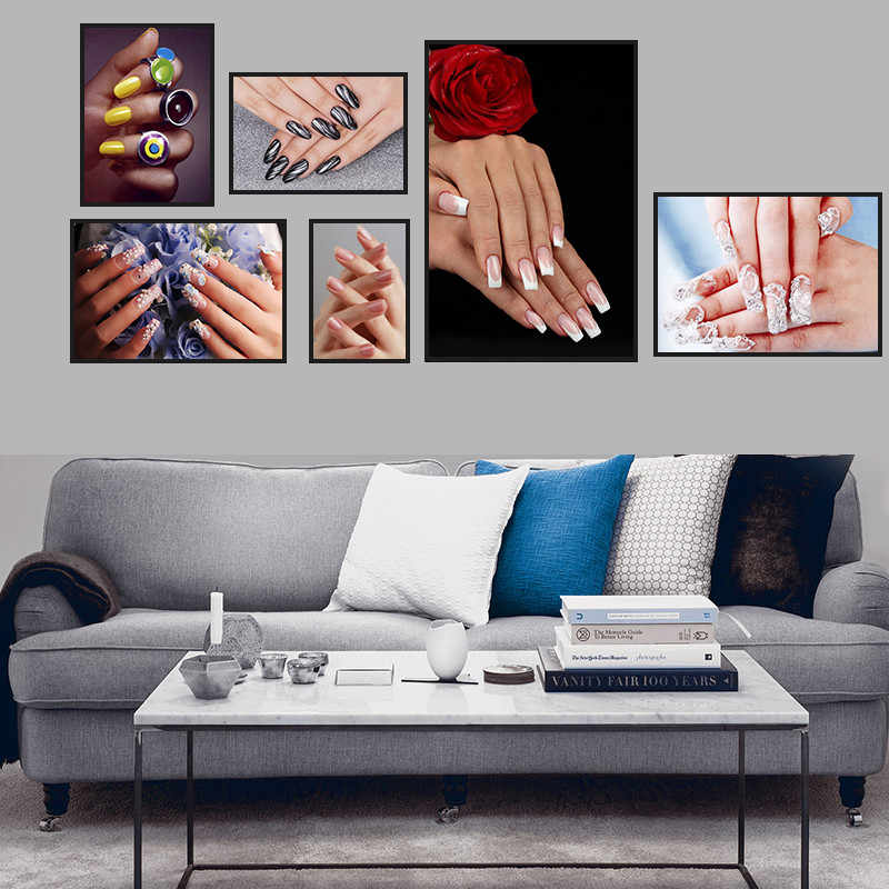 Modern Nail Salon Colorful Home Decor Wall Art Nordic Canvas Painting Figure Print Poster Girl L Bedroom Living Room Picture