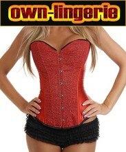 fire red hot rhinestone shaper corset