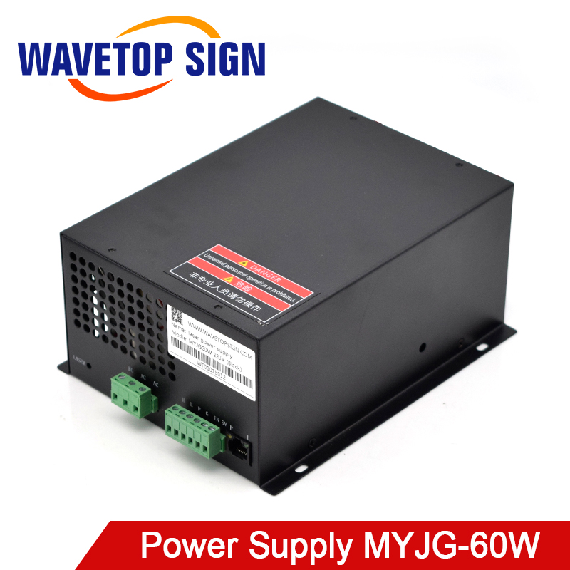 WaveTopSign 60W CO2 Laser Power Supply For CO2 Laser Engraving Cutting Machine MYJG-60W