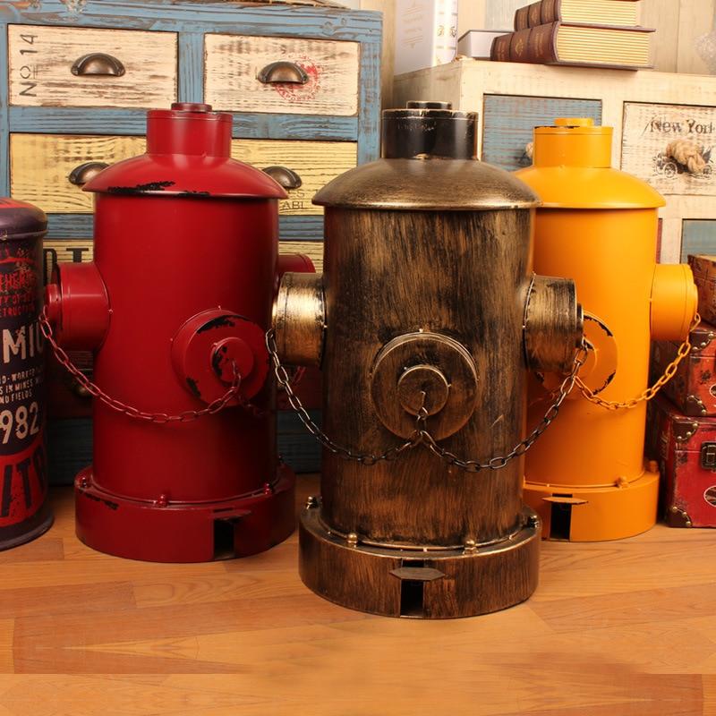Américain pays loft industriel vent rétro bouche d'incendie vintage poubelle personnalité pédale stockage seau à la main poubelle